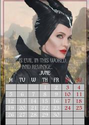 June/Maleficent/calendar2017 by MAR-y-s