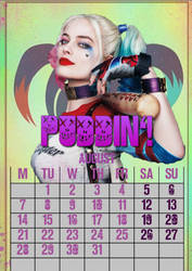August/HarleyQuinn/calendar2017 by MAR-y-s