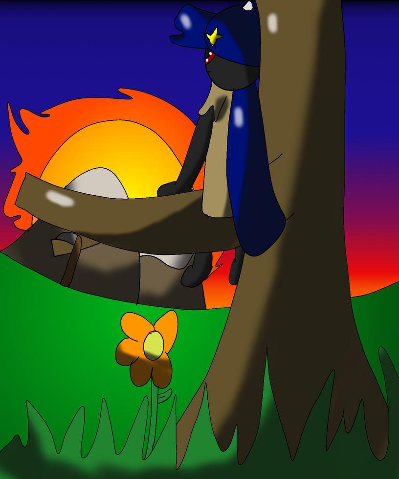 Sunset Redraw by felinic-ponii