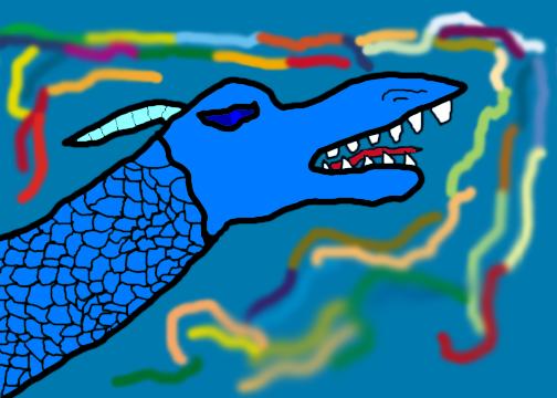 Arctic Dragon by dragonrt