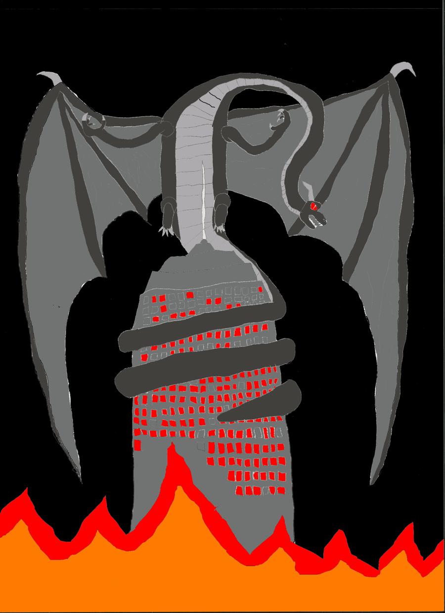 Rampaging Dragon by dragonrt