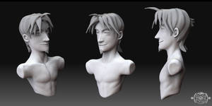 Zbrush Dabbling - Greek Bust by chemb0t
