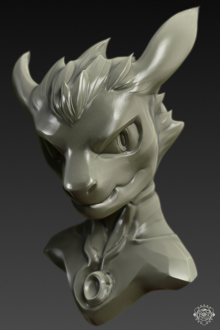 Character Bust test - Dragons on my mind by chemb0t