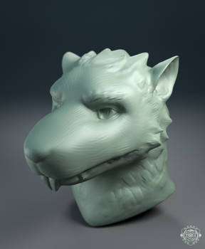 Sculpt bust commission - Rat character