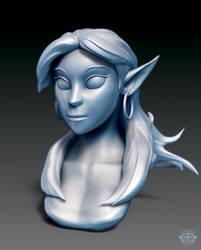 Elf Girl Bust