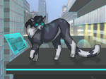 Sci-Fi Kitty (point commission) by kitty-camera