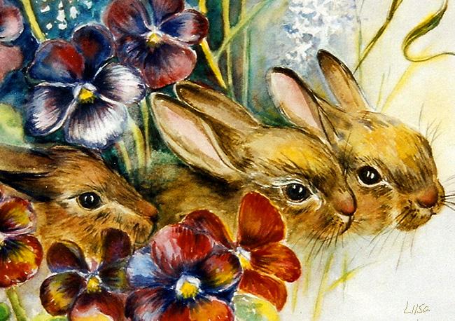 Three Bunnies by happytimer