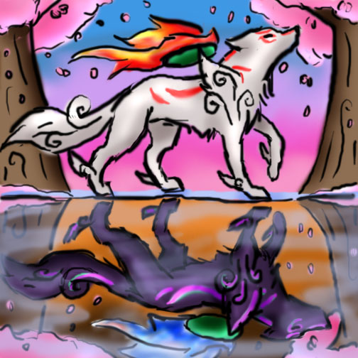 Amaterasu's Reflection by SquirtSapphire