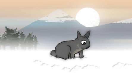 Rabbit in the Snow by AwakeNight