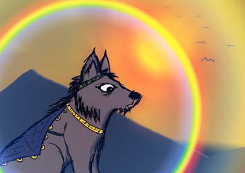 Dressed Wolf Sunset by AwakeNight