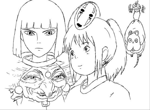 ponyo printable coloring pages - spirited away by dani sunshine on deviantart