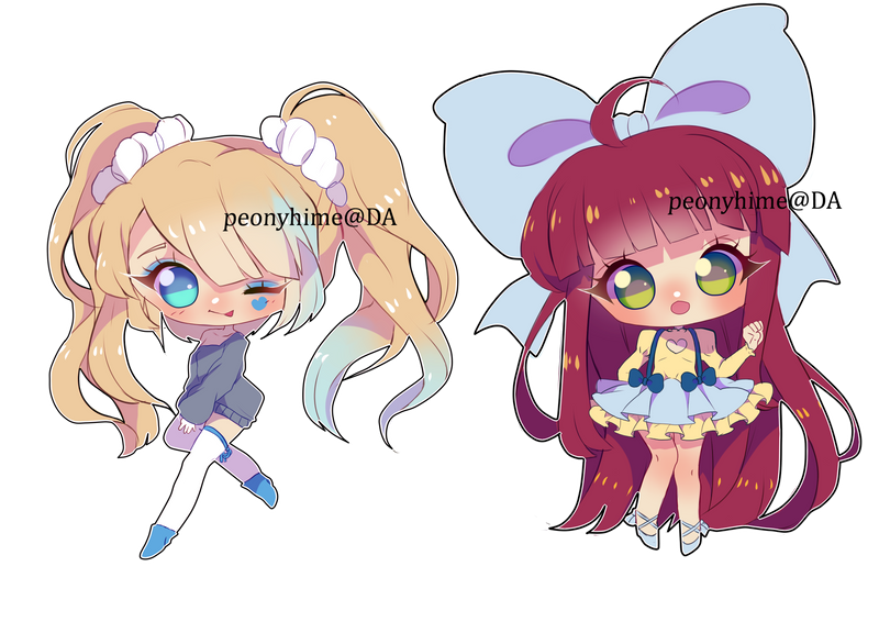 Chibi Commissions OPEN ($13) by peonyhime