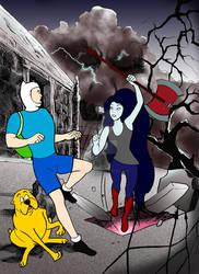 Adventure Time/Action Comics 252 mash-up