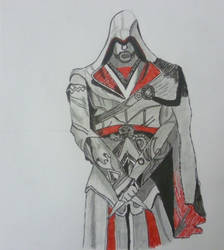 Ezio 'Assassins Creed' by Hussam123