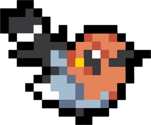 Fletchling Mini Icon Sprite Vector