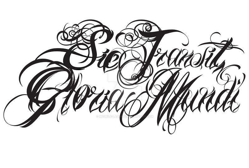SIC TRANSIT GLORIA MUNDI - Logo band by Michele-Laporta