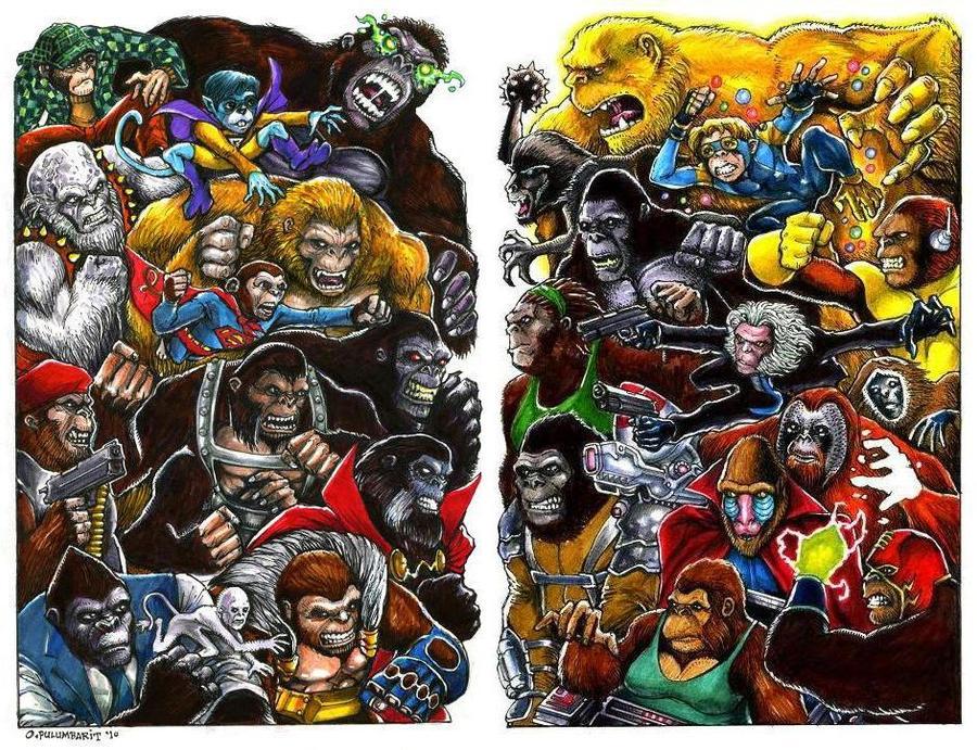 Marvel-DC: Ape War by olybear