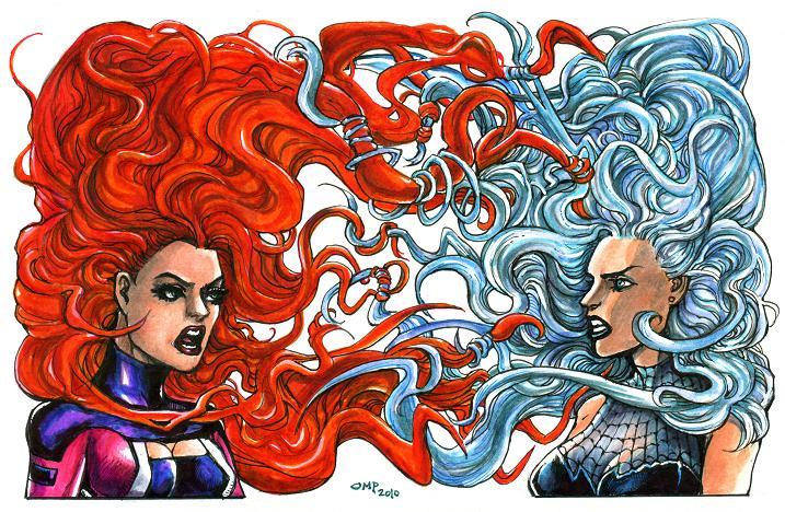Medusa Vs. Spider-Girl by olybear