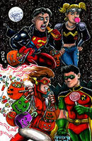 Young Justice Halloween by olybear