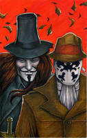 V and Rorschach by olybear