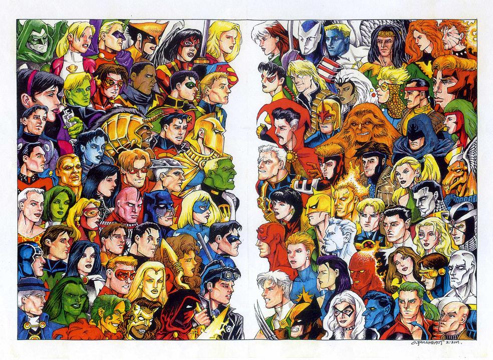 DC Vs Marvel 2001 By Olybear