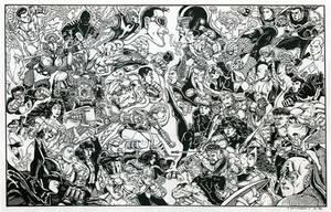 JLA Vs. Avengers 1998 by olybear