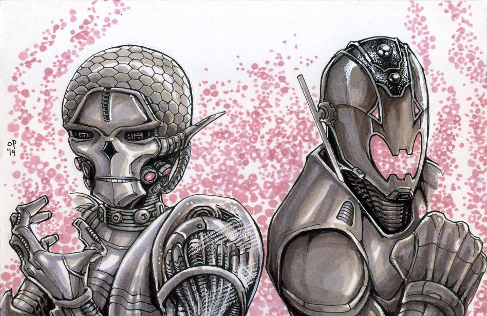 Brainiac and Ultron by olybear on DeviantArt