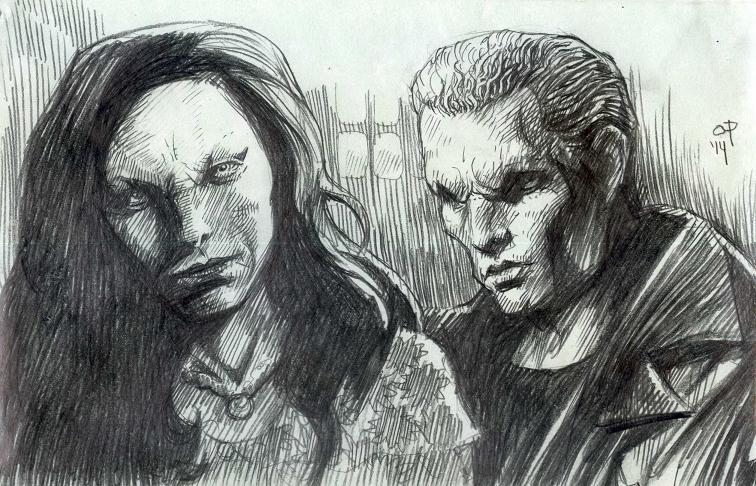 Dru and Spike by olybear