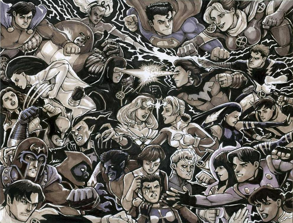 X-Men Vs. Legion by olybear