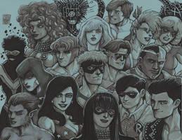 New Mutants + New Teen Titans by olybear