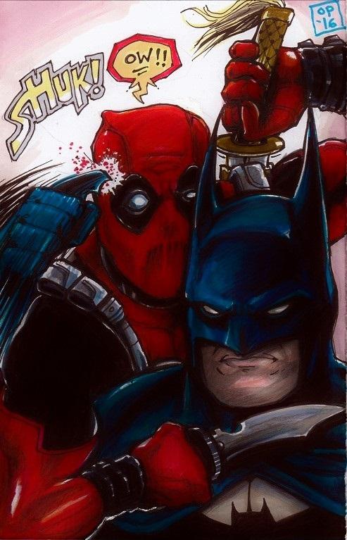 Deadpool Vs. Batman by olybear