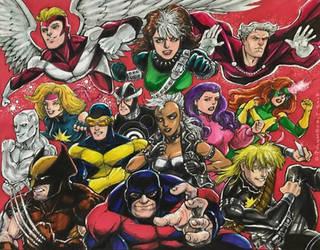 X-Men, 1986 by olybear
