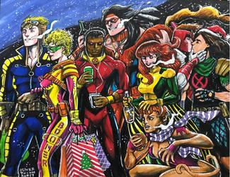 X-Force Xmas, Circa 1993 by olybear