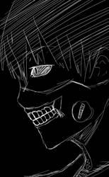 Kaneki Sketch BnW