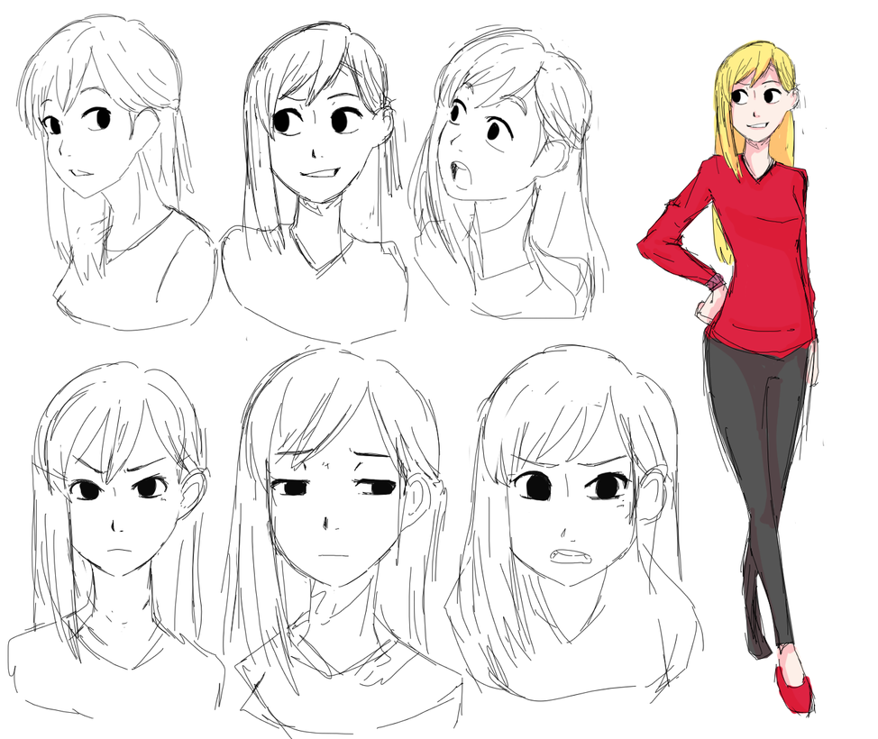 Character Design Study : Character design and study by zierou on deviantart