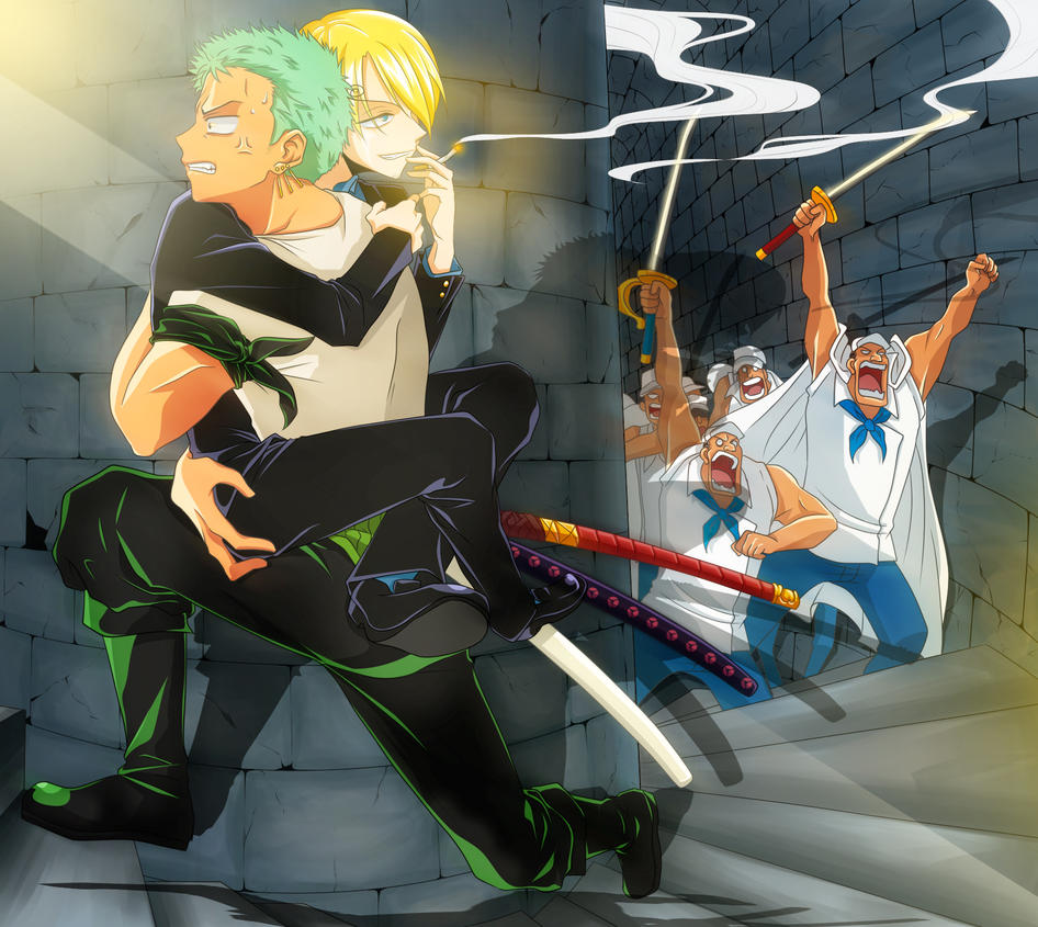 One Piece Zoro Wallpaper: Zoro X Sanji By Razephyr On DeviantArt