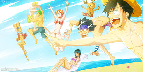 One Piece: Summer Time!!! by razephyr