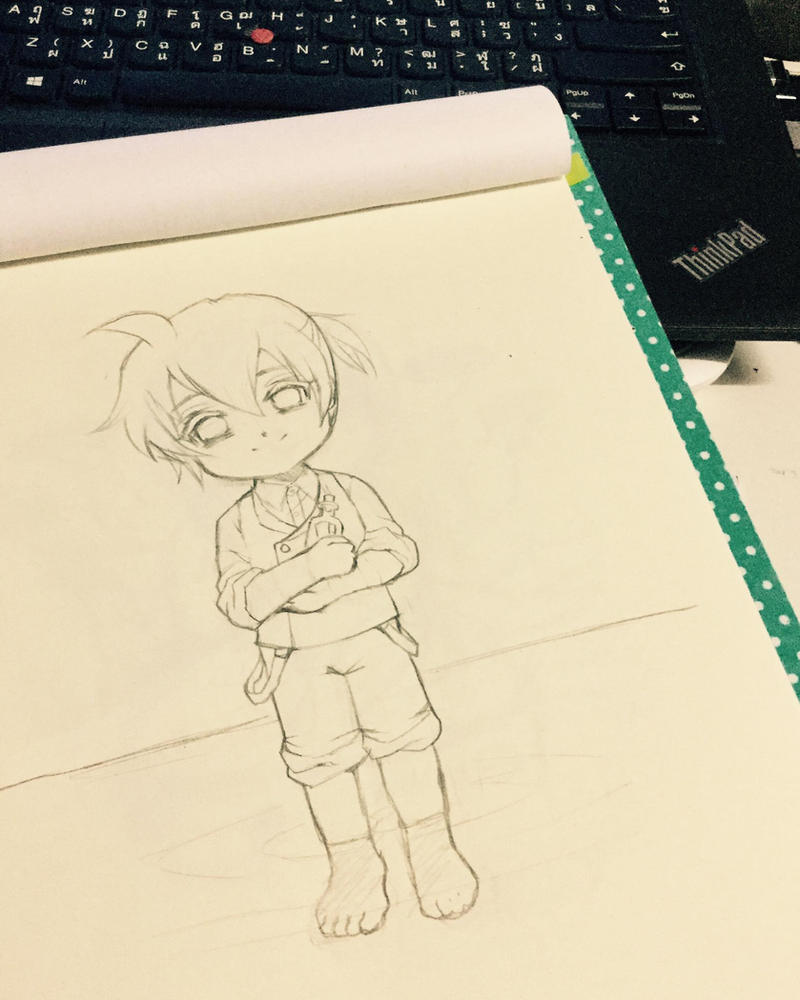 Sketch of Regret Message by Moondogla