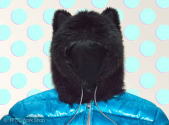 Jacket with wolfhood by FreemanFDC
