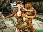 Steampunk Girl by Xeno-3DX