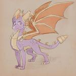Big Boy Spyro | Day 1 | Daily Sketch Challenge