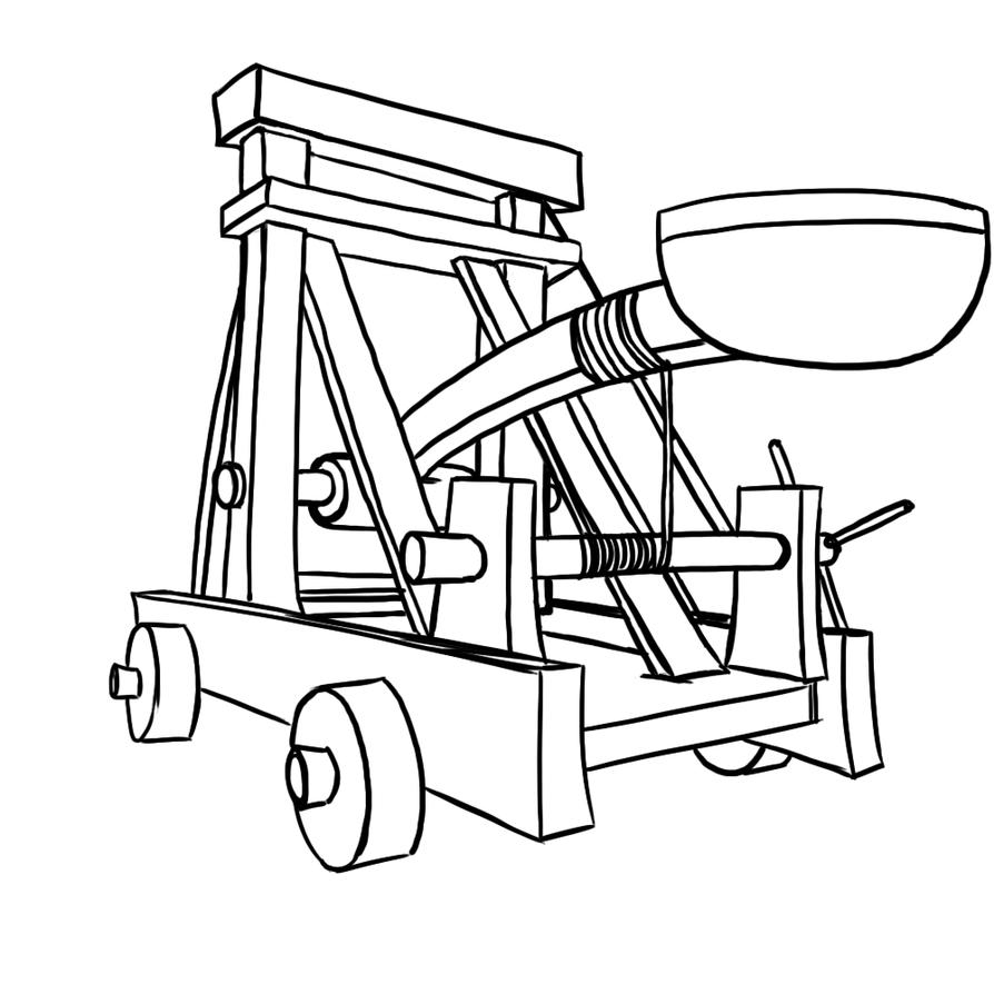 Как сделать катапульту схема