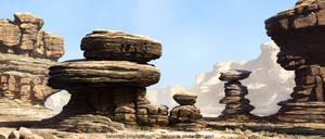 Canyon Environment WIP by Balaskas