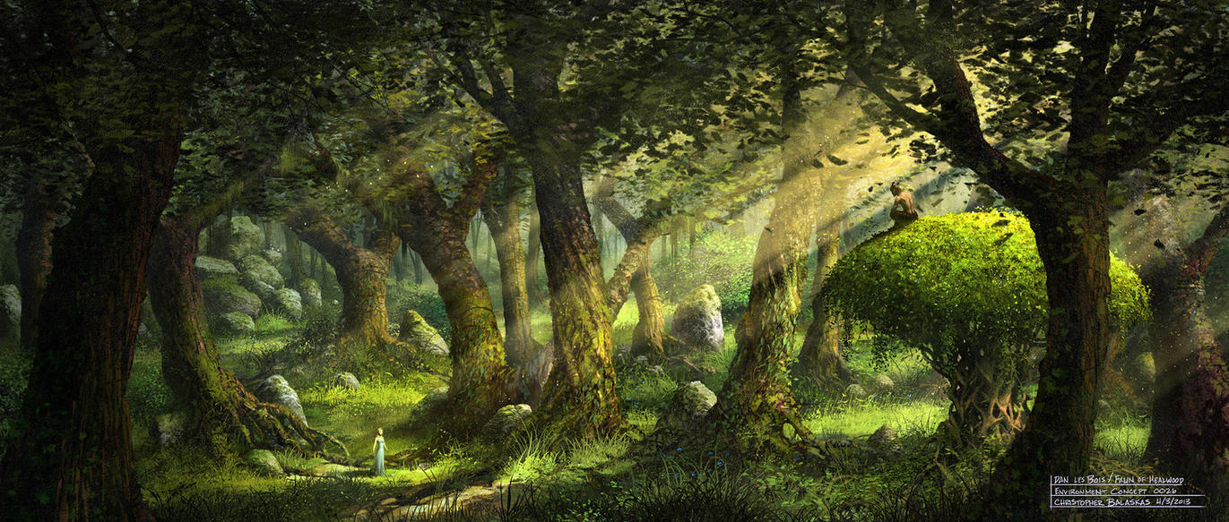 dans les bois the faun of healwood environment by balaskas on deviantart. Black Bedroom Furniture Sets. Home Design Ideas