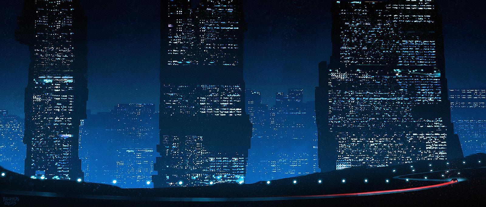 Blue Skyline by Balaskas