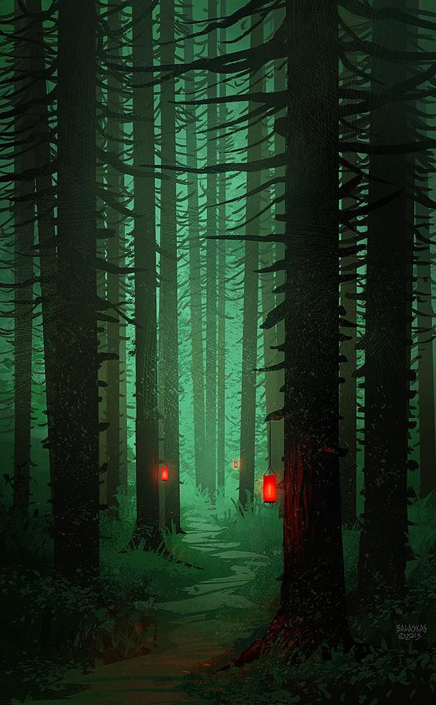 Red Lanterns by Balaskas
