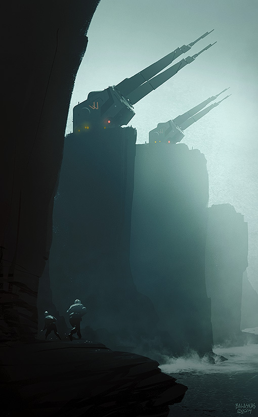 Cliff Artillery Saboteurs by Balaskas