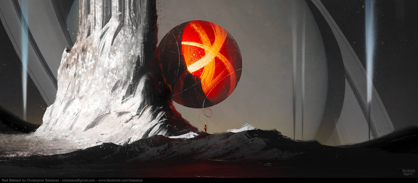 Red Balloon by Balaskas