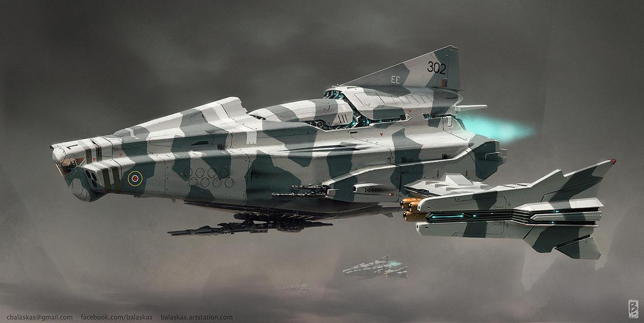 Attack Ship Concept by Balaskas