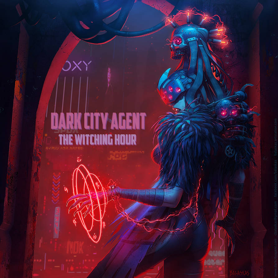 Dark City Agent: The Witching Hour album cover art by Balaskas